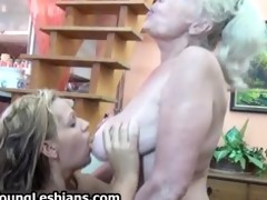 golden-haired mature granny can having part3
