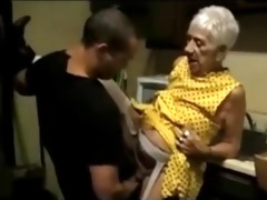 old granny receives drilled by a youthful lad