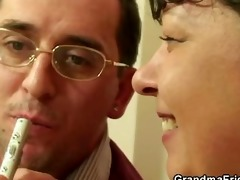 plumper takes two cocks at one time pov