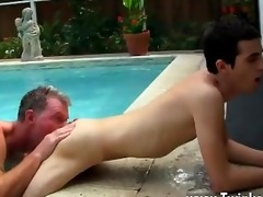 gay clip of daddy brett obliges of course, after