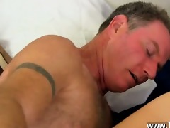 hot gay daddy brett obliges of course, after
