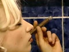 smoking cigar milf