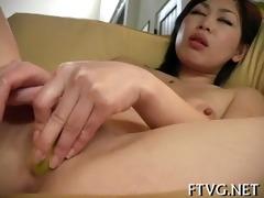 sweetheart fondles juicy cum-hole