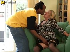 british chubby aged lady munching on a dark ramrod