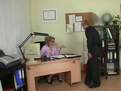 he is bangs lascivious office lady