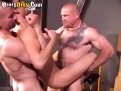 handsome jock enjoys double penetration fuck