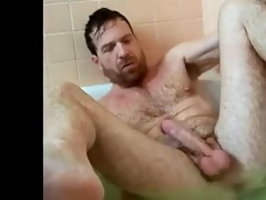 hot dad in the bath
