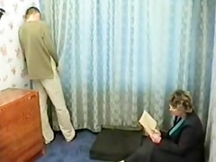 russian milf punishes naughty lad