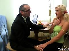 concupiscent professor seduces hid dumb blonde