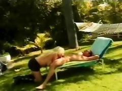 she copulates her nephew in her garden