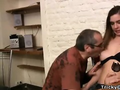 petite dark brown coed goes nasty with her teacher