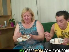 he is is lured into sex by chubby mother in law