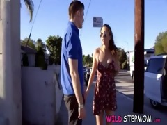stepmom bangs the boyfriend with her 0011