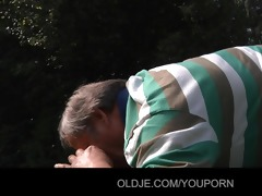 old codger gets nice fuck with youthful cutie