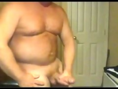 beefy big cock dad busts a hot nut!