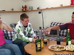 partying boyz nail blonde grandma