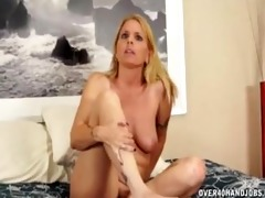 bare mother i touching herself before jerking a