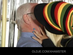 old chap is fucking his youthful blonde assistant