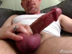 older tucker jerking off his penis