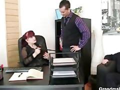 lucky studs group sex business woman