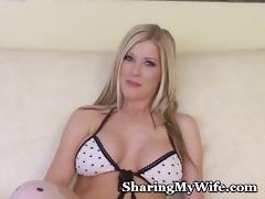astonishing blonde bombshell stretches cum-hole