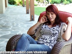 mommybb nikki hunter jumps on a young guys dick
