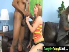 constricted youthful teen takes large black dick