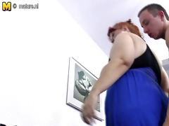 big mama cheerful to get some young hard cock