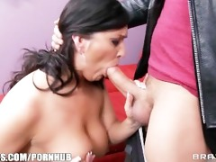 busty brunette d like to fuck acquires a pornstar
