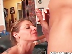 busty brunette hair mother i receives cookie