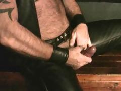 leather dad jerk off