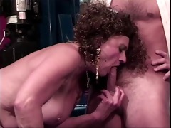 old whore receives her vagina licked by younger