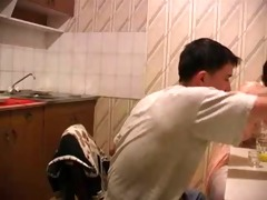old women fucked in the kitchen by youngster -
