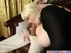 older fat cougar with large mounds receive her