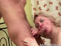 granny fucks two younger studs