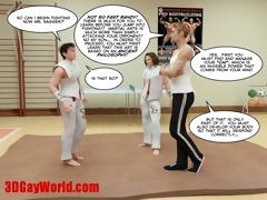 kung fu boyz 3d gay toon animated comics american