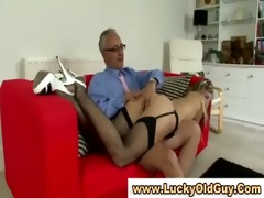 mature lad younger girl foreplay