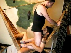 rough white dad drills papi face hole and arse