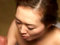 older oriental wench receives banged hard by her