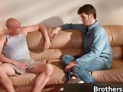 brothers sexy boyfriend receives cock sucked part4