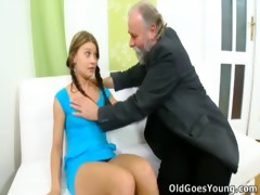 anna has her pussy eaten out by older chap