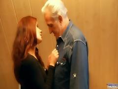 redhead lewd playgirl rewards generous older man