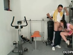 fucking in a private gym