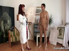 pounder hungry mature paintress takes it hard