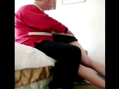 straight chap spanked by man