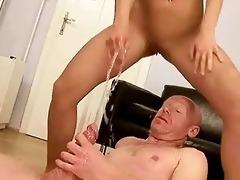grandpa fucking and peeing on youthful hotty