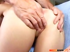 breasty golden-haired chick anal fucked