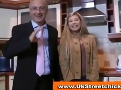 juvenile blonde stripping for old dude