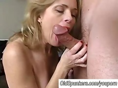 hot mature hottie pandora enjoys a facial