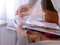 cute legal age teenager kira drilled by teacher